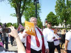 Rev. Craig Roshaven, Unitarian Universalist Association Witness Ministries Director, walks in the Jericho March around the U.S. Supreme Court.