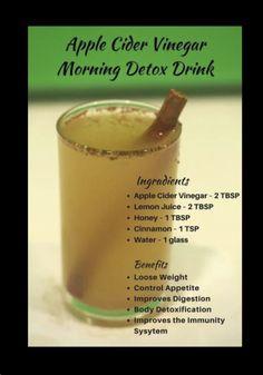 Source: Pinterest | #wittyvows #drinks #mocktails #recipe #diy #detoxdrinks #detoxjuices #detoxdiet #detoxwater #potd #trending Fat Burning Drinks, Fat Burning Foods, Weight Loss Drinks, Weight Loss Smoothies, Vinegar For Health, Apple Cider Vinegar Morning, Lose 10 Pounds Fast, Vinegar Weight Loss, Body Detoxification