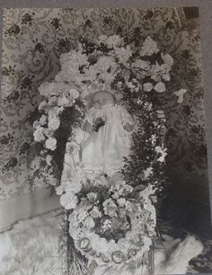 1900's Mounted Post Mortem Photo of Deceased Baby