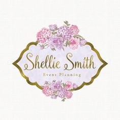 Premade Logo Design  Watercolor Flower Logo  by stylemesweetdesign