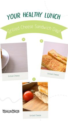 What is your secret recipe? National Grilled Cheese Day, Sandwich Day, Days Of The Year, Secret Recipe, Healthy Snacks, Grilling, Sandwiches, Lunch, Recipes