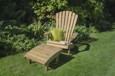 Relax in style after a hard day's gardening in this charming American-inspired Saratoga chair with matching footstool. Visit www.wonkeedonkeeforestgarden.co.uk