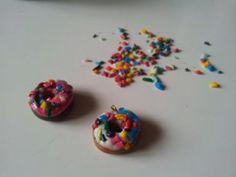 donut wine glass charms