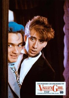 Cameron Dye & Nicholas Cage in Valley Girl (1983)