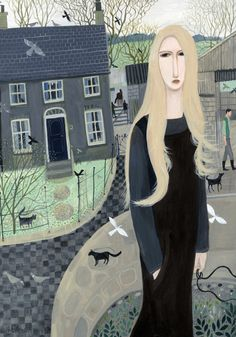 'Farm Girl' By Dee Nickerson. Unsure why I find this slightly sad - she looks…