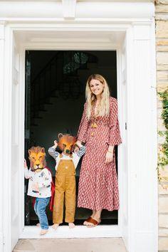 Katherine Kleveland of Doen. Shop the Prem Dress in rust here --> https://shopdoen.com/collections/dresses/products/prem-dress-rust-combo