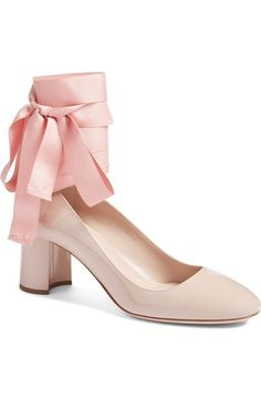 80aa34690019 Miu Miu Ribbon Lace Wraparound Pump (Women) available at  Nordstrom Ribbon  Shoes