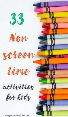 Ideas for non screen time activities for your kids. Focussing on child led styled unstructured play that allows better development of key skills. #noscreens #earlychildhooddevelopment #independentplay #learningtoys #educationalgames #toddleractivities