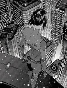 [ Ghost in the Shell 攻殻機動隊 - Major Motoko Kusanagi 草薙 素子 ] Illustration by Masamune Shirow (士郎 正宗) found via Emmanuel Olarewaju