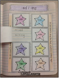 Teaching With Love and Laughter: First Grade Interactive Notebooks, Word Work First Grade Words, First Grade Phonics, 1st Grade Writing, Teaching First Grade, First Grade Reading, Teaching Reading, Second Grade, Teaching Ideas, Creative Teaching