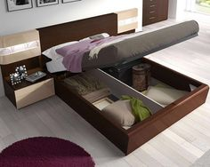 Bedroom,Cool Bedroom Furniture Design With Wonderful Brown Bed Frame And Storage Also Comfortable White Mattres On Combined Gray Bed Cover For Modern Concept,Chic Bedroom Furniture Inspiration