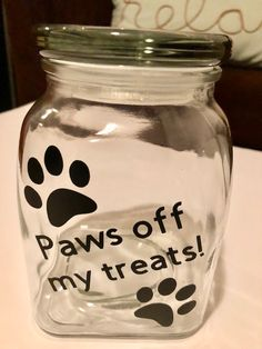 There are many kinds of pet dog toys available for you to pick from. So, when looking for an ideal toy for your pooch keep in mind to consider your pet dog's age and activities first. Dog Treat Container, Dog Treat Jar, Treat Bags, Diy Dog Treats, Healthy Dog Treats, Diy Dog Gifts, Mason Jar Crafts, Mason Jar Diy, Dog Cookies