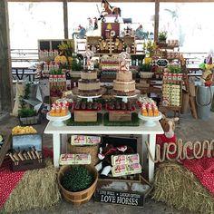🇺🇸: Festa Na fazendinha ❤❤️❤️️🐴🐴🐴 . Farm Party, Table Decorations, Furniture, Instagram, Home Decor, Party, Homemade Home Decor, Home Furnishings, Decoration Home