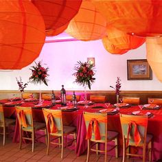 orange & pink decor