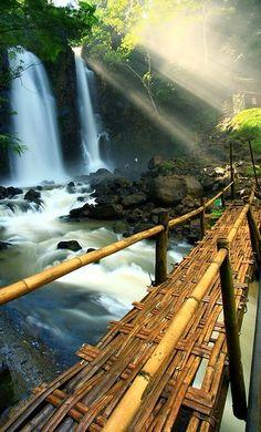 Bamboo Bridge, Indonesia