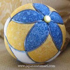 photo from Japanese Kimekomi, Fast, Fun, and Fabulous Fabric Handballs