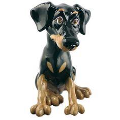 PETS WITH PERSONALITY Dog Figurine Sculpture Doberman Pinscher Dobie Nelson  FOR MAKS!