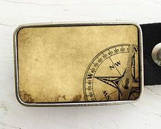 Belt Buckle for Men, Vintage Compass Belt Buckle, Father's Day, gifts under 30. $20.00, via Etsy.
