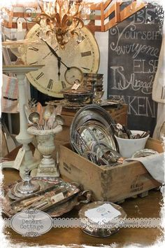 Display the old silverware in the white urn vase.**My Desert Cottage**: Sweet Flea at Sweet Salvage Antique Booth Displays, Antique Mall Booth, Antique Booth Ideas, Vintage Display, Antique Stores, Vintage Decor, Flea Market Displays, Store Displays, Flea Markets