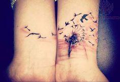 Dandelion Double Wrist Tattoo Design