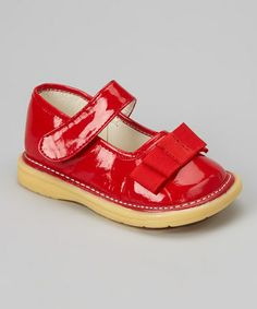 Take a look at this Red Patent Bow Mary Jane by Scribbles on #zulily today!