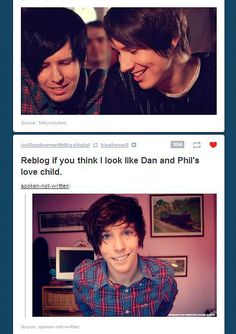 I like how Dan and Phil are looking down upon him all proud and such haha