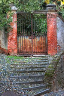 BRICK AND IRON ENCLOSED GARDEN WALL - Google Search