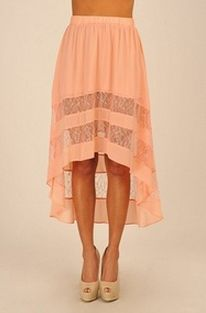 Orange High-Low Skirts