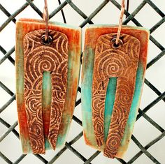 Machu Picchu Earrings - Copper Clay by Stories They Tell, via Flickr