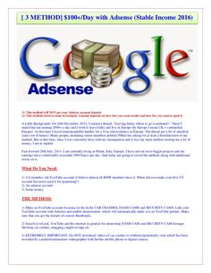 $100+day with adsense (stable income Easy Steps 2016) [ 3 METHOD] $100+/Day with Adsense (Stable Income 2016) What Is LINKATY.US And How Does It Work? Linkaty.…