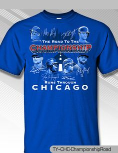 on sale 04952 398ea Details about Chicago Cubs 2016 Road to Championship Shirt ...