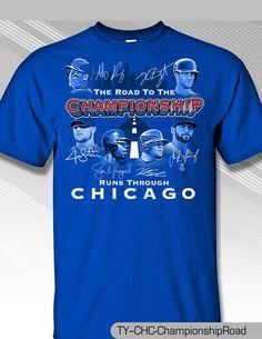 Chicago Cubs 2016 Road to Championship Shirt, 100% Cotton  #MLBPA