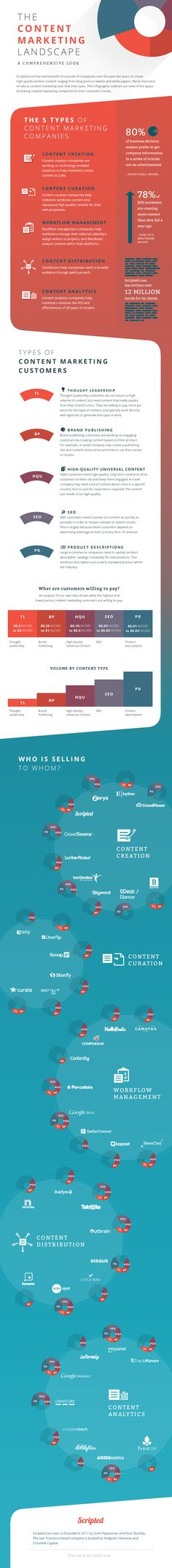 #ContentMarketing Landscape | A comprehensive viewCourtesy of: B2B #Infographics