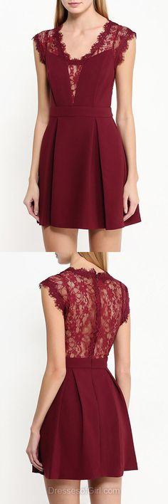 Burgundy Prom Dresses,Lace Homecoming Dresses,Casual Summer Dresses,Modest Cocktail Dress,Vintage Party Gowns