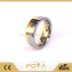 POYA Jewelry 8mm Tungsten Carbide Wedding Band Gold & Silver Two Tone Puzzle Ring For Men