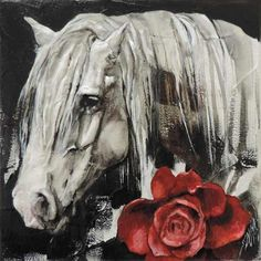 'Red Rose' miniature 20x20cm Création de Sophie Dumas.