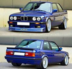 BMW E30 3 series blue Alpina