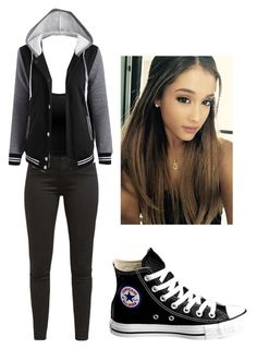 """""""Girl Meets Hart's Mom #5"""" by bella-014 ❤ liked on Polyvore featuring Levi's, Doublju and Converse"""