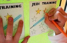 Star Wars Kindergeburtstag | Star Wars Party | Dekoration | Kuchen | Jedi Training | Spielideen | Bastelideen | Gelbkariert