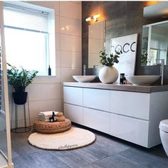 Have a nice relaxing evening all! Gorgeous bathroom designed by 🖤🙌🏻 . Bathroom Interior Design, Bathroom Styling, Interior Design Living Room, Ikea Interior, Zen Bathroom, Small Bathroom, Guys Bathroom, Asian Bathroom, Japanese Bathroom