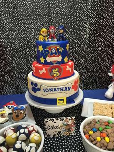Awesome cake at a Paw Patrol birthday party! See more party ideas at CatchMyParty.com!