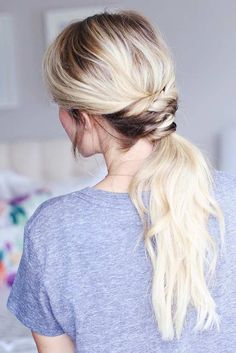 Cute Ponytail Hairstyles 41 Diy Cool Easy Hairstyles That Real People Can Actually Do At Home