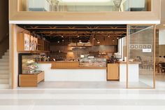 Daily Roast cafe by Whitespace Bangkok Thailand Cafe Interior Design, Cafe Design, Store Design, Bakery Design, Interior Paint, Restaurant Design, Restaurant Bar, Roast Cafe, Design Café
