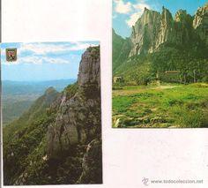 Montserrat Vistas de Sant Jeroni y  Camino de La santa Cueva. Sin circular.