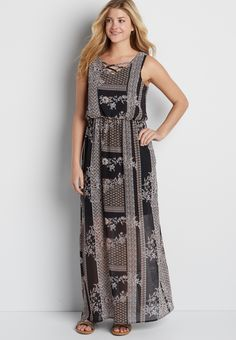 3a1ee26cc5c2 chiffon maxi dress in floral patchwork print (original price