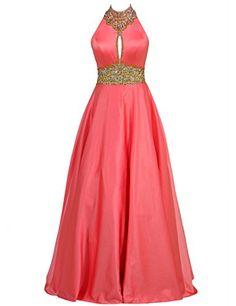 LovingDress Womens Prom Dresses High Neck with Rhinestones Long Evening Dress Buy New: $139.99