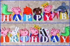 Peppa Pig Birthday Banner