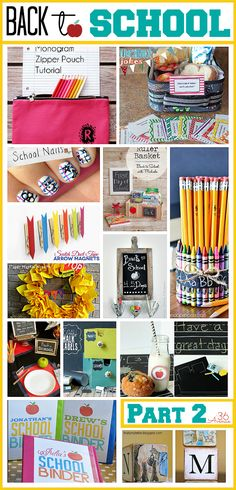 Loving these awesome Back to School ideas!