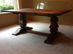 "Rustic dining table by ""Oldtool"" via Lumberjocks.com"