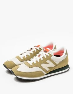 New Balance / 620 in Olive Tennis Photography, How To Wear Sneakers, Cotton Lace, Colorful Fashion, New Balance, Vintage Inspired, Flats, 3d Printing, Heels